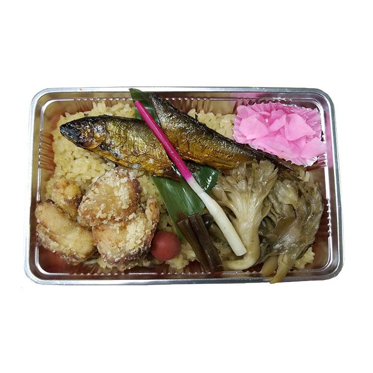 鮎・鶏・山菜弁当